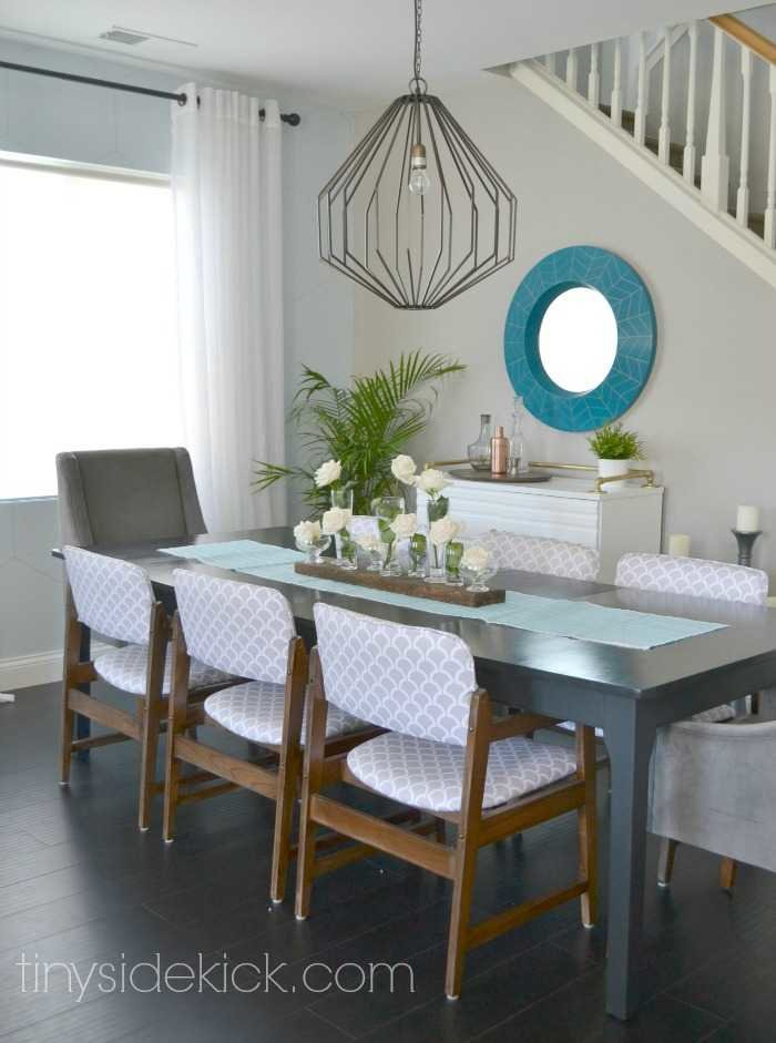 Home Decor Color Palettes think back a few years to a time when red and green would never be seen in the same room together now look at modern colour trends and see how the entire Dining Room Reveal