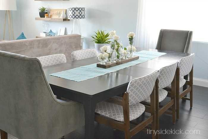 modern dining room reveal DIY before and after
