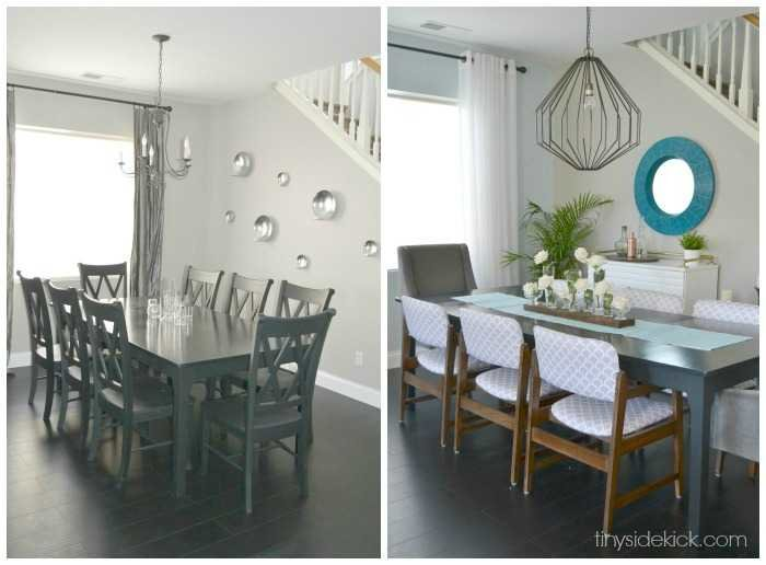dining room reveal before and after