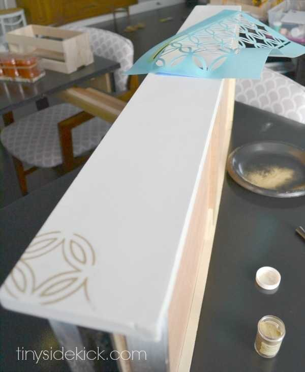 embossing on furniture to create pattern