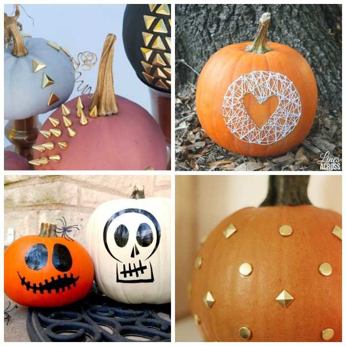 modern no carve pumpkins