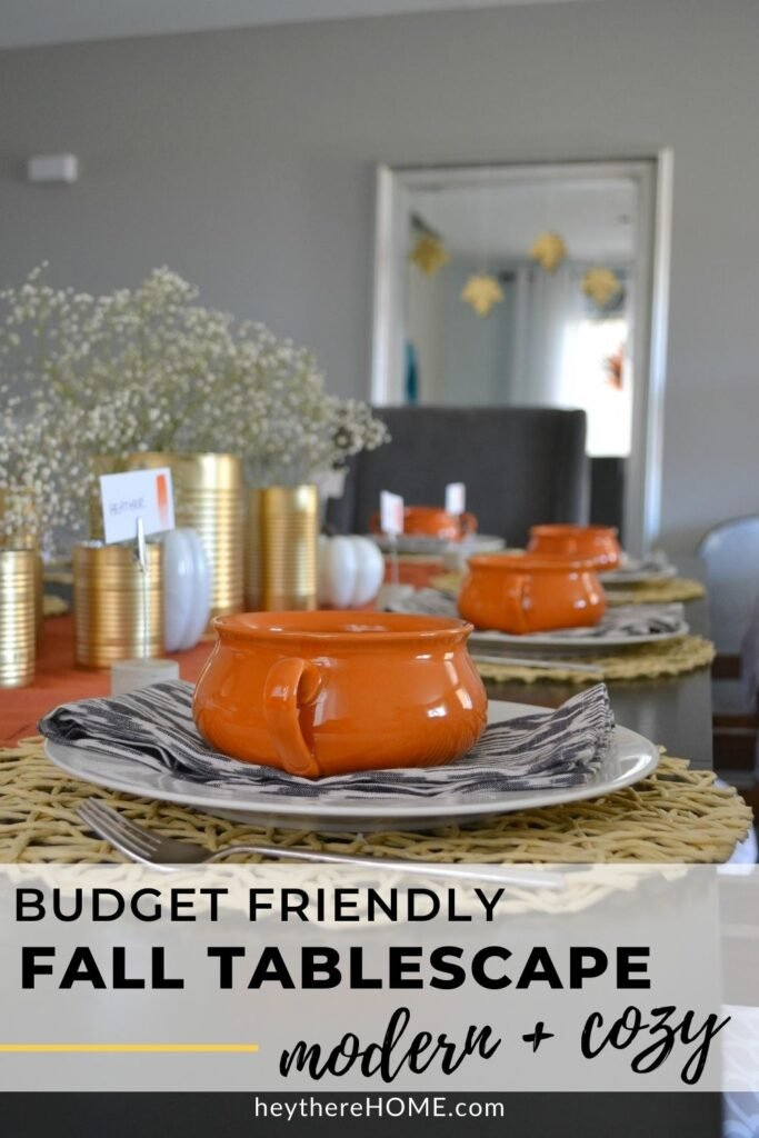 Budget friendly fall tablescape