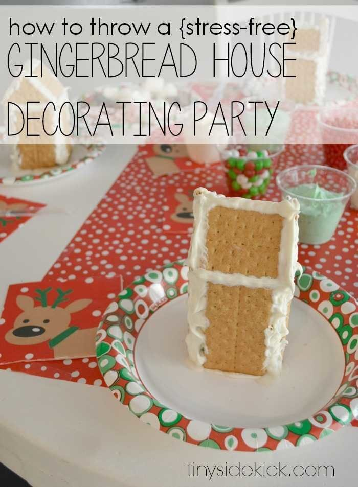 DIY gingerbread house decorating party