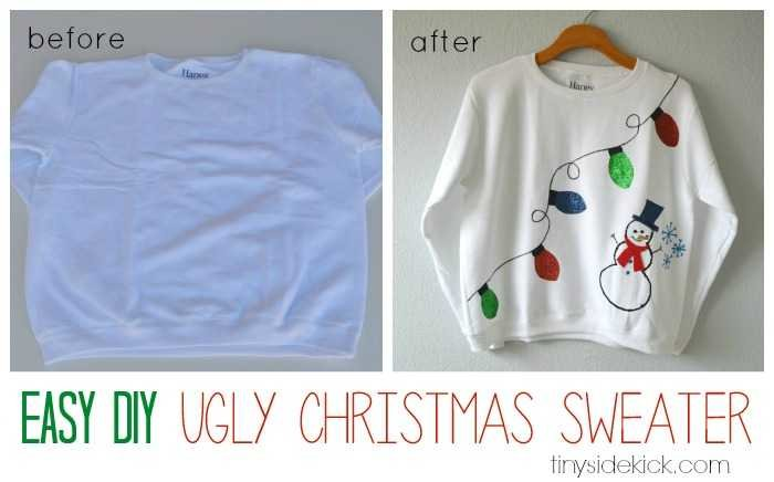 DIY tacky Christmas sweater