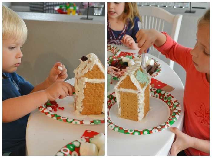 How to host an easy gingerbread house decorating party decorating gingerbread houses solutioingenieria Choice Image