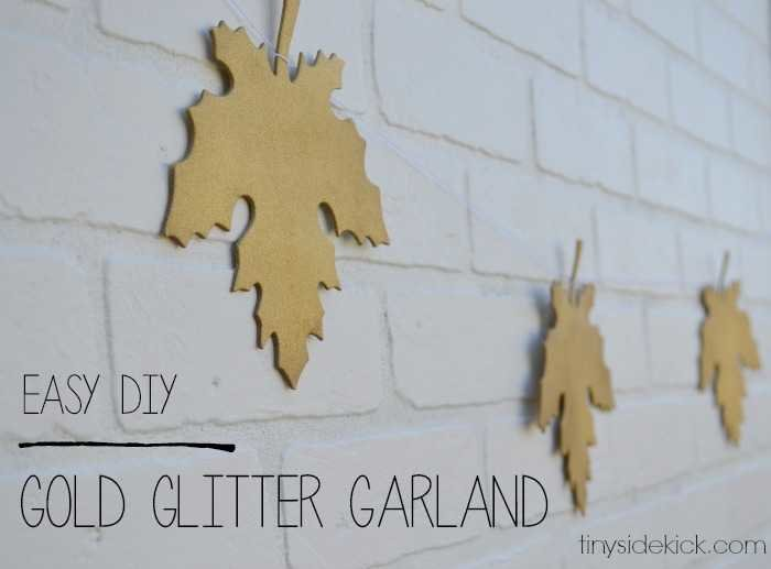 easy diy gold leaf garland