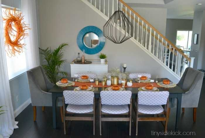 fall dining room decor