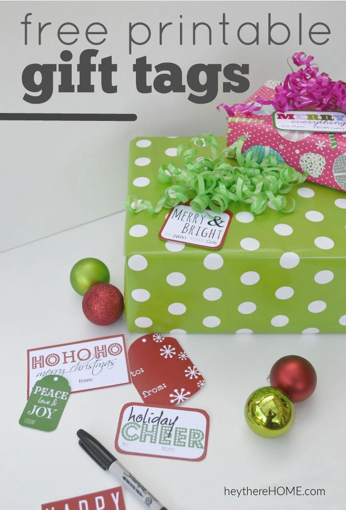 photograph about Printable Holiday Gift Tags called Absolutely free Printable Xmas Present Tags