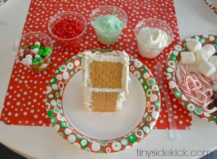How to host an easy gingerbread house decorating party ginger bread houses made from gram crackers solutioingenieria Choice Image