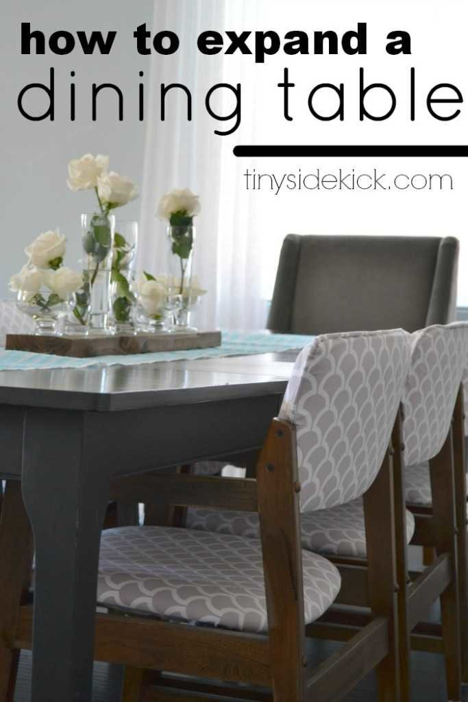 how to expand a dining table