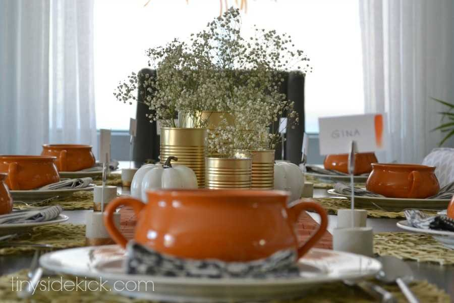 modern fall table setting