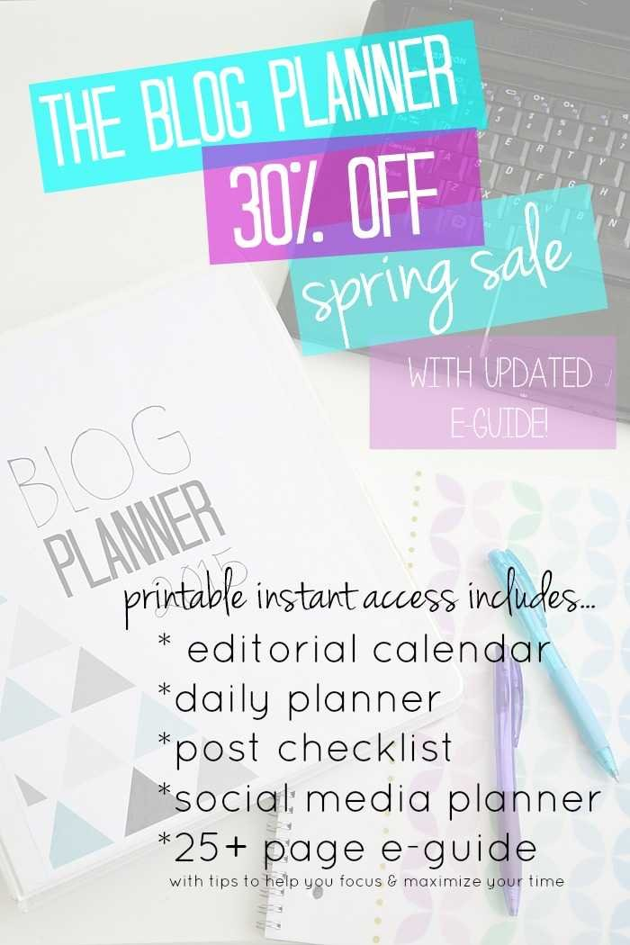 printable blog planner sale