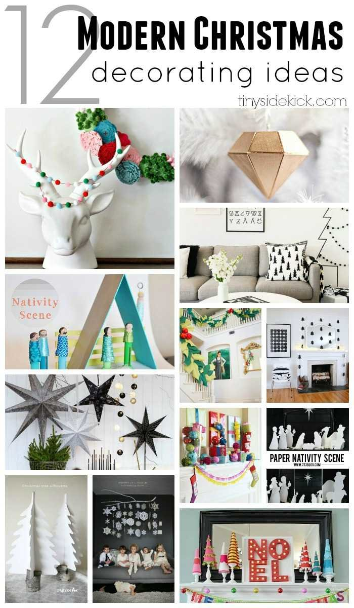 12 Modern Christmas decorating ideas that inspire both the neutral and colorful Christmas decor lovers! #moderndecor #Christmasdecor via @heytherehome.com