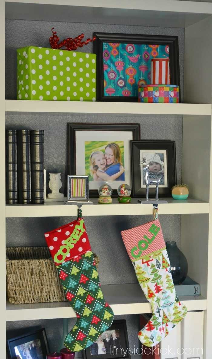Easy Christmas shelf styling
