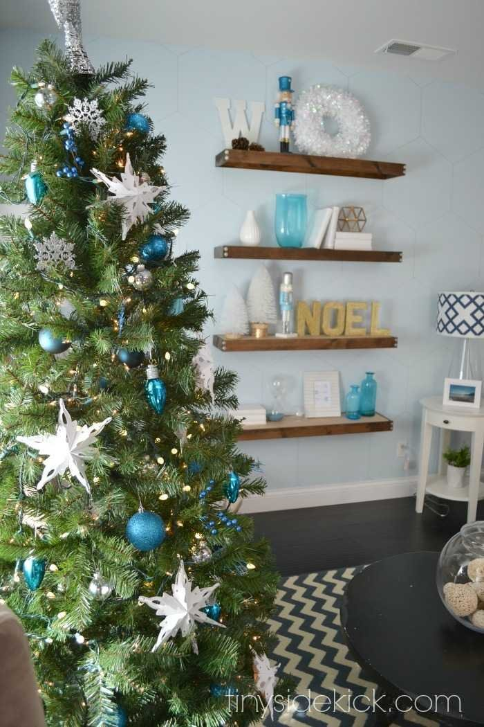 blue and white christmas decor - Narwhal Christmas Decoration