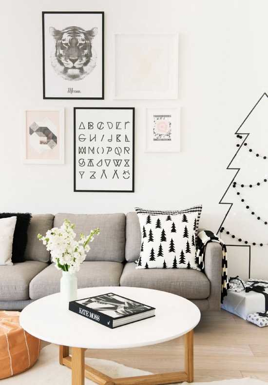 Modern Christmas living room = 12 modern Christmas decorating ideas