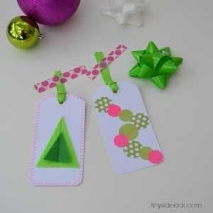 stitched gift tags- social media