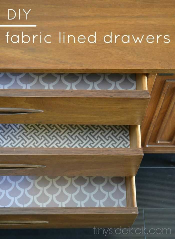 Diy Fabric Lined Drawers Such An Easy Way To Make The Inside Of Your Drawers Special