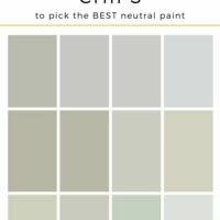 How To Use Paint Chips To Choose The Right Neutral Paint Color