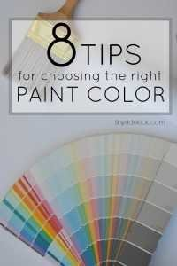 Tips for choosing the right paint color - Great series to understand color and knowledge to choose the right one with confidence!