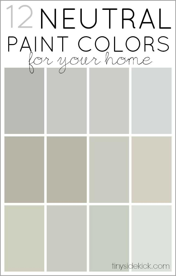 How to choose neutral paint colors 12 perfect neutrals for Shades of neutral colors