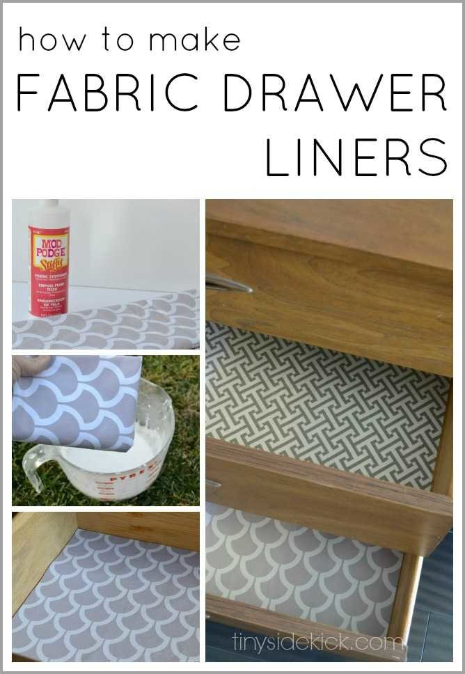 how to line drawers with fabric