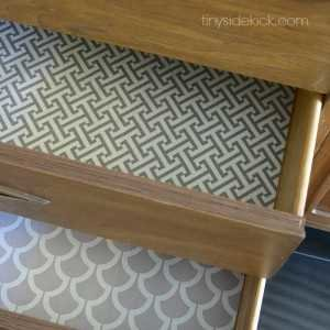 lined drawers- square