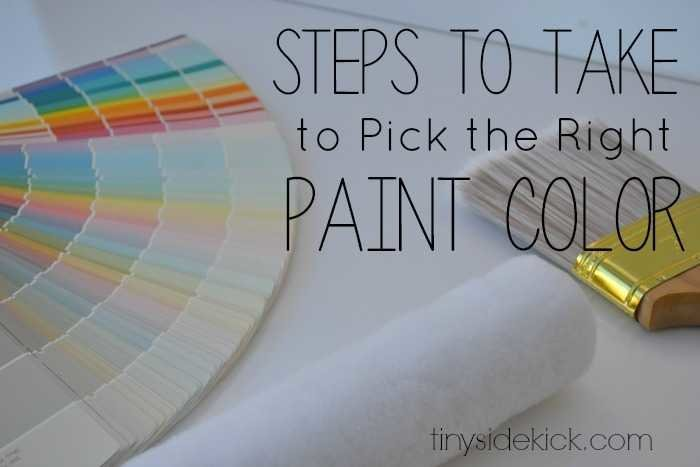 steps to take to pick the right paint color