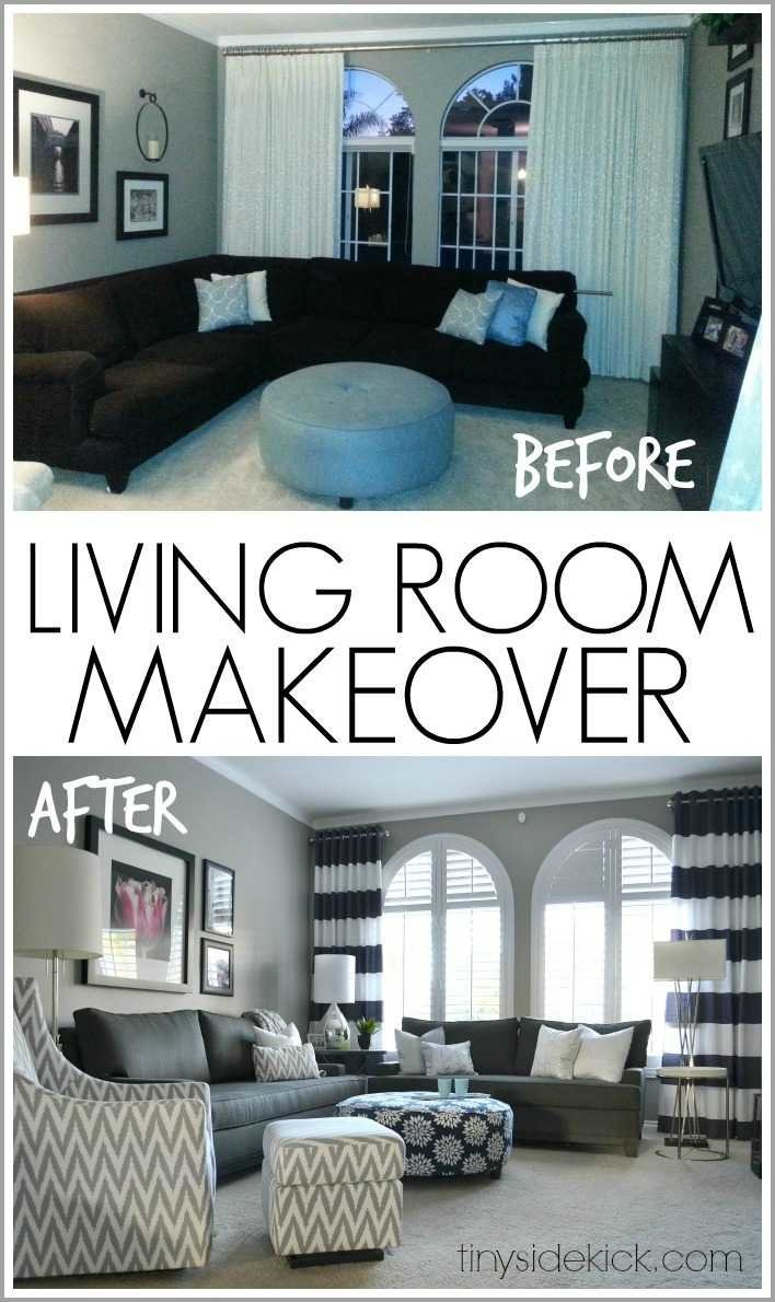 Bold and bright living room makeover before after Before and after interior design projects