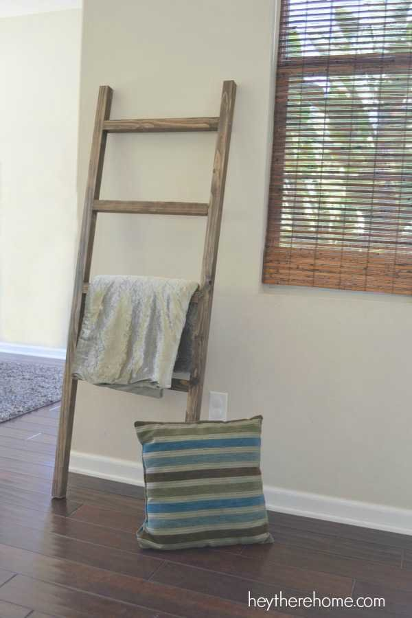 DIY pottery barn blanket ladder 2