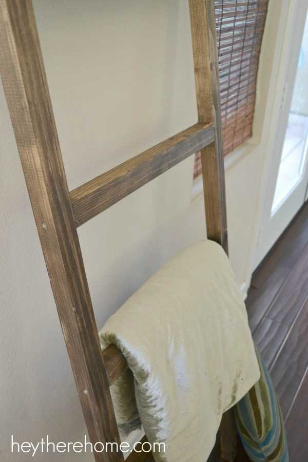 DIY pottery barn blanket ladder