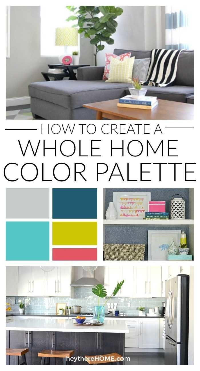 Easy steps and great explanation to create a whole home color palette. Having a color scheme is such a great way to get a cohesive look for your décor.