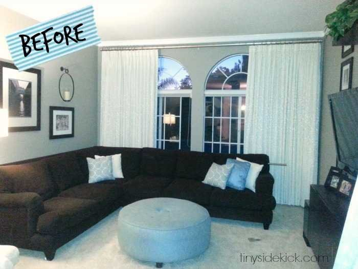 Living Room Makeover Bold And Bright Living Room Makeover  Before & After