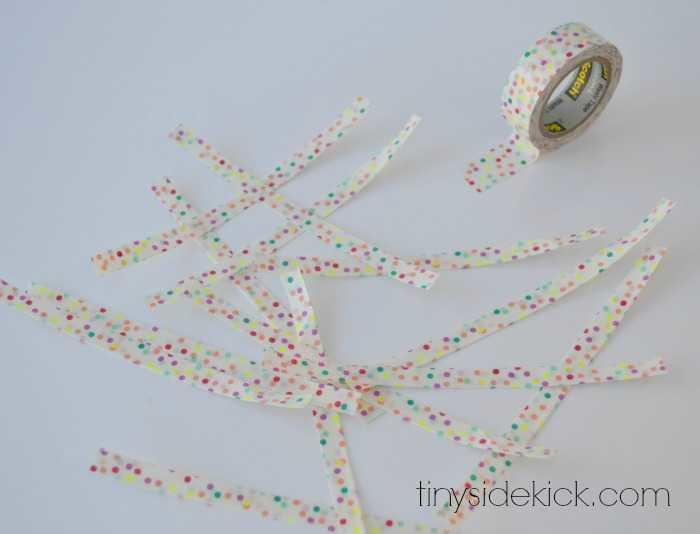 how to make a washi tape gift tassel, washi tape crafts, gift wrap, wrapping presents, birthday gift wrap