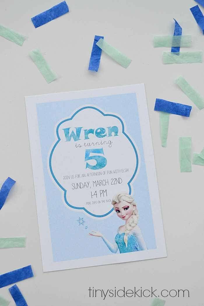 Free Printable Frozen Birthday Party Invitations – Invitation for the Birthday Party