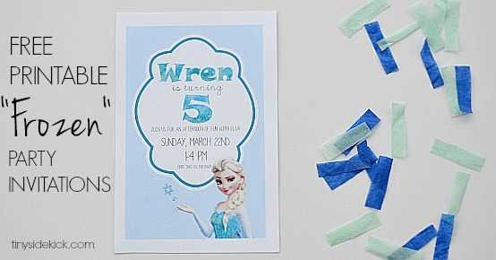 frozen invitations FB