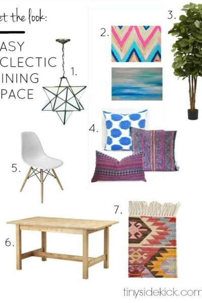 Get the look: Eclectic and casual dining room.