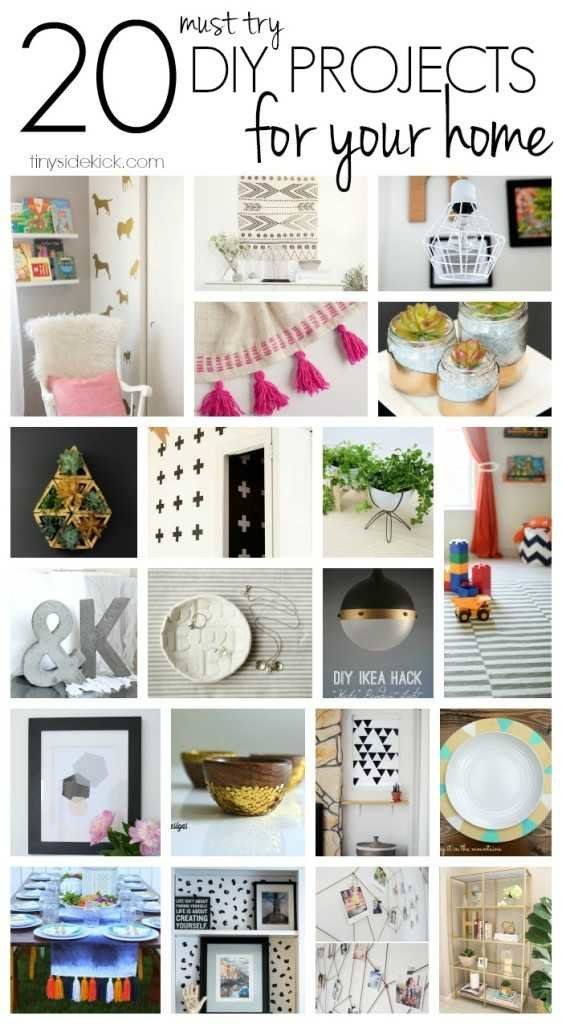 20 simple DIY ideas for your home
