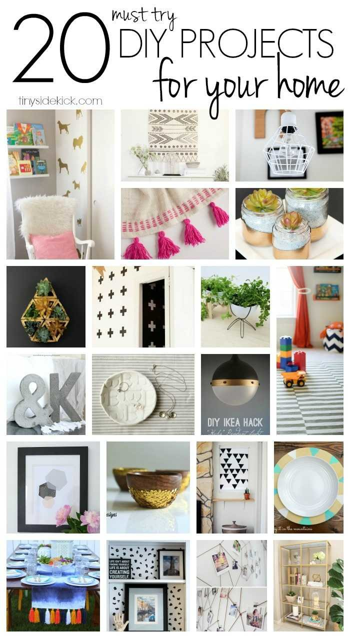 The best of the makers 20 must try diys for your home for Homemade decorations for your home