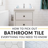 How to pick out bathroom tile