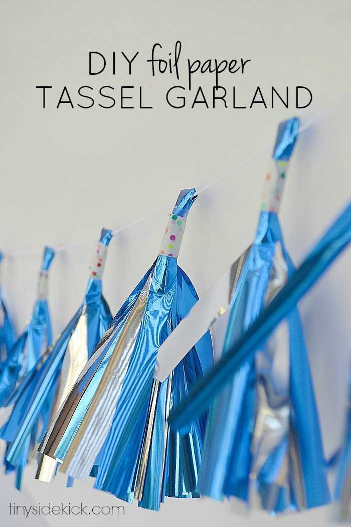 diy tassel garland, birthday party decorations