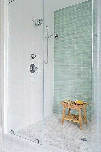 focal shower wall - choose the right bathroom tile