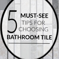 how to choose tile for a bathroom