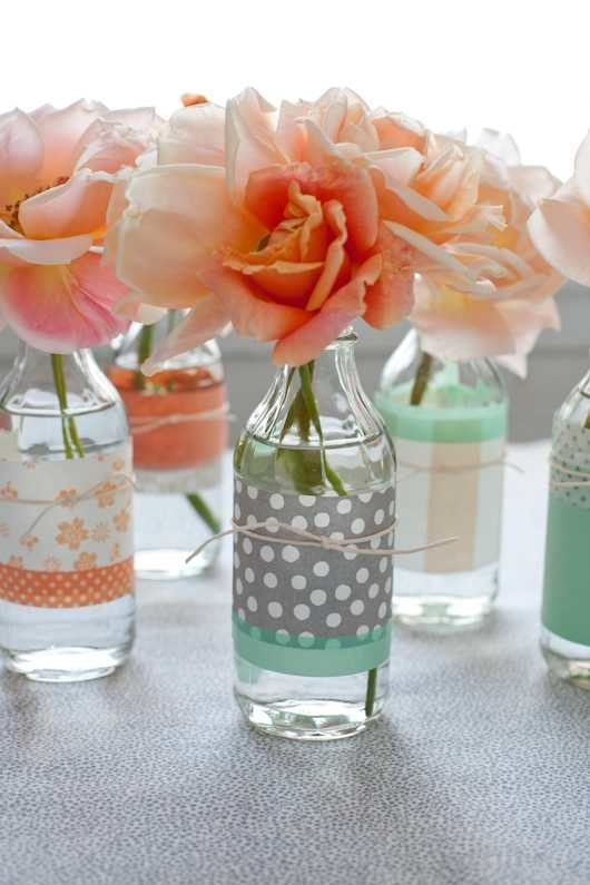 paper wrapped bottles