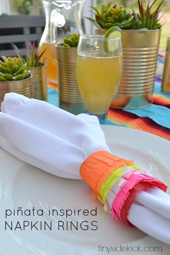 pinata inspired napkin rings