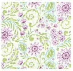 purple floral fabric