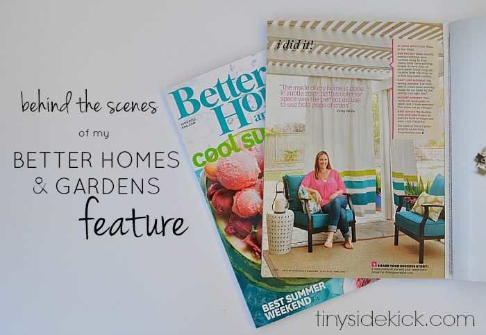 Better Homes And Gardens Feature Behind The Scenes