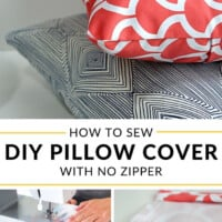 How to sew DIY Pillow cover with no zipper