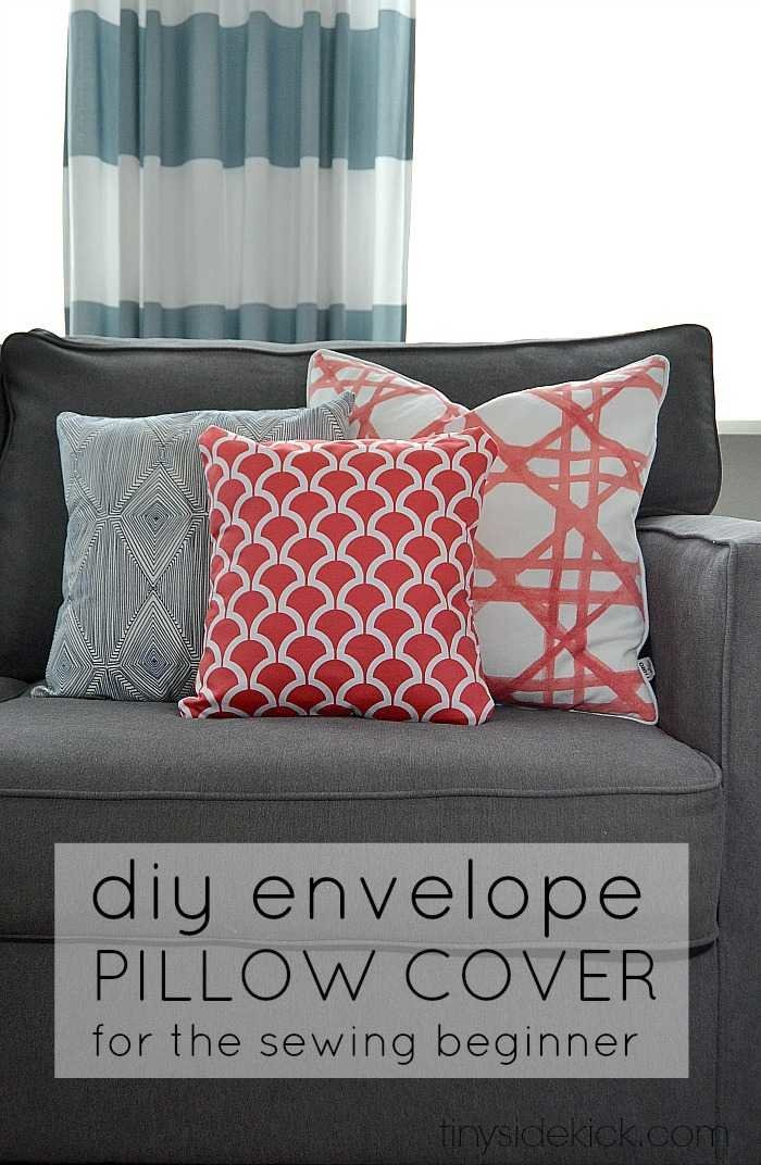 how to make an envelope pillow cover. Black Bedroom Furniture Sets. Home Design Ideas