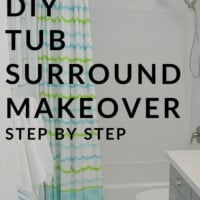DIY Tub surround makeover step by step
